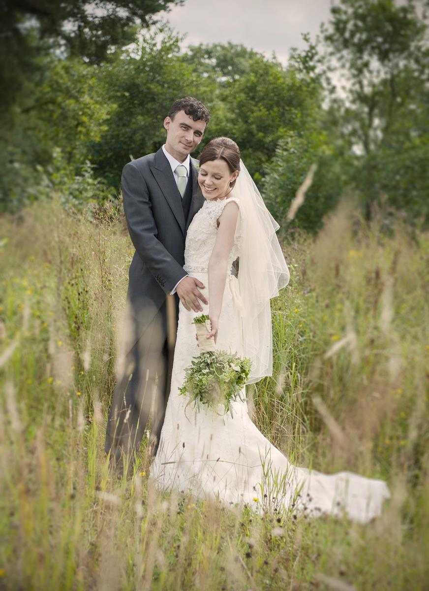 wedding-photographer-south-wales-couple-woods-wedding-gown-reustic-wedding