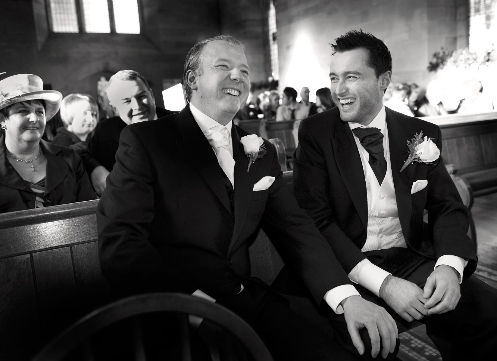 Laughing-groom-Brigend-wedding-photography