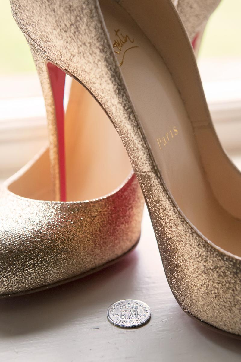 wedding-shoes-gold-lucky-silver-sixpence-wedding-photographers-south-wales