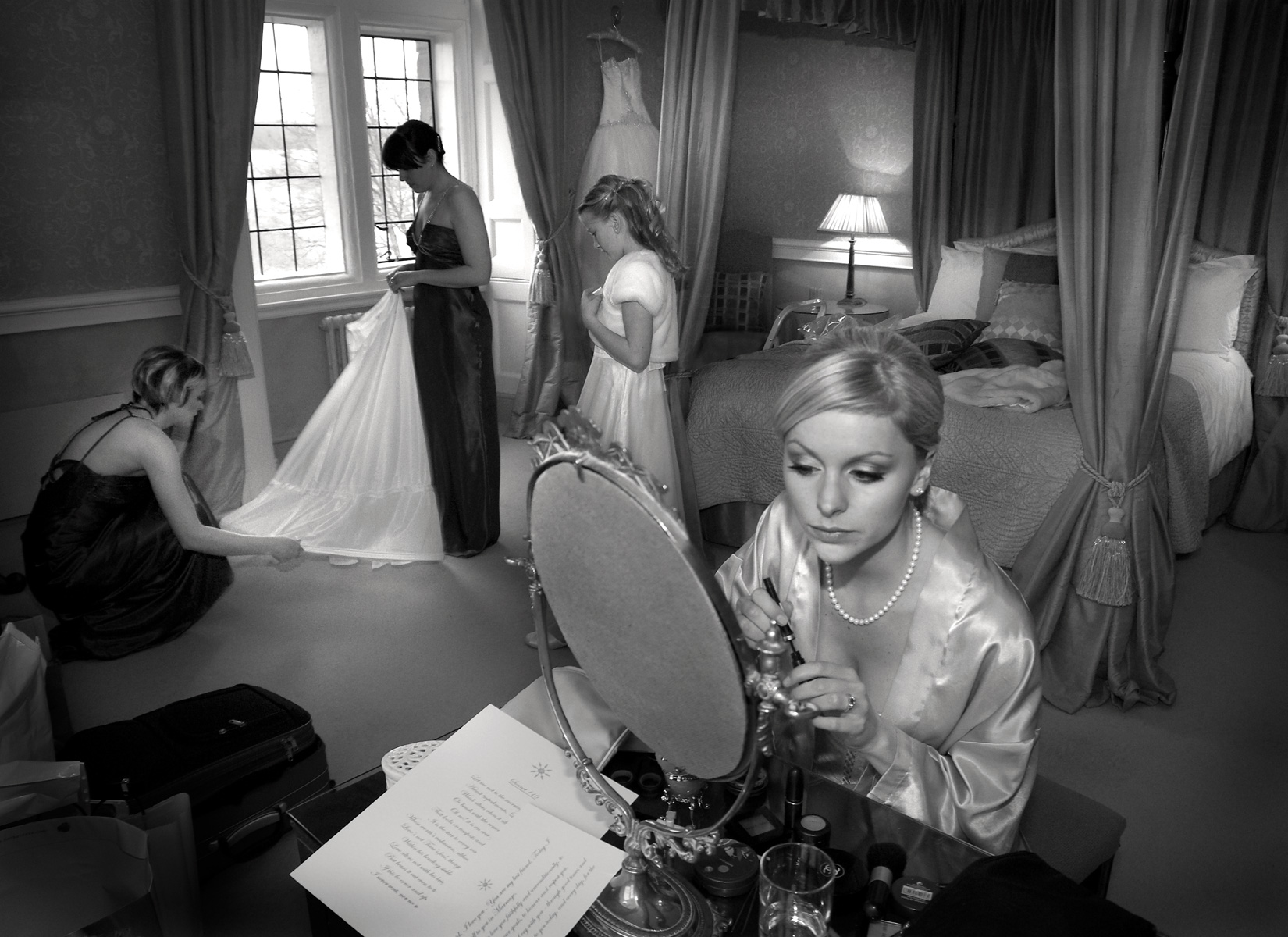 Bridal-preparations-Clearwell-castle
