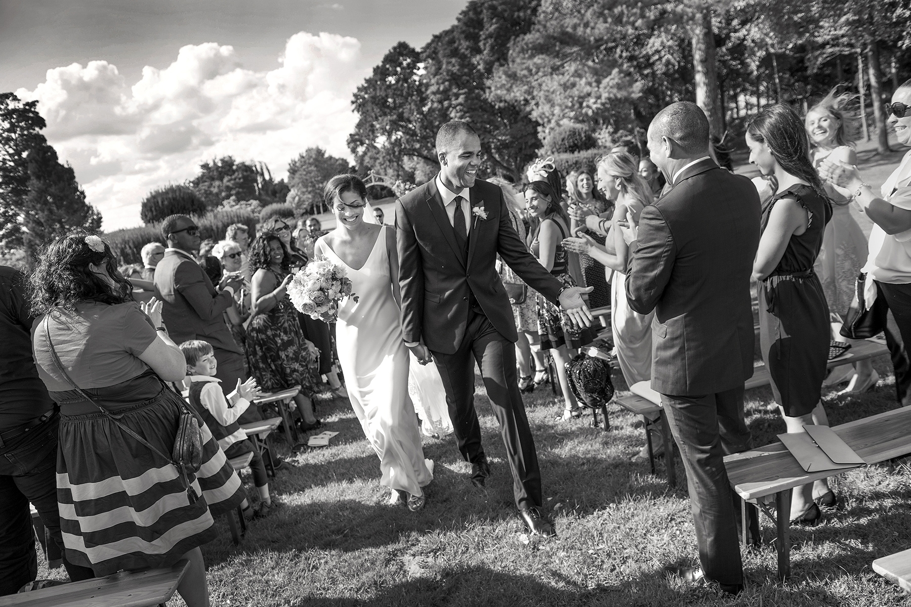 Wedding-photographers-south-wales-walking-down-the-aisle