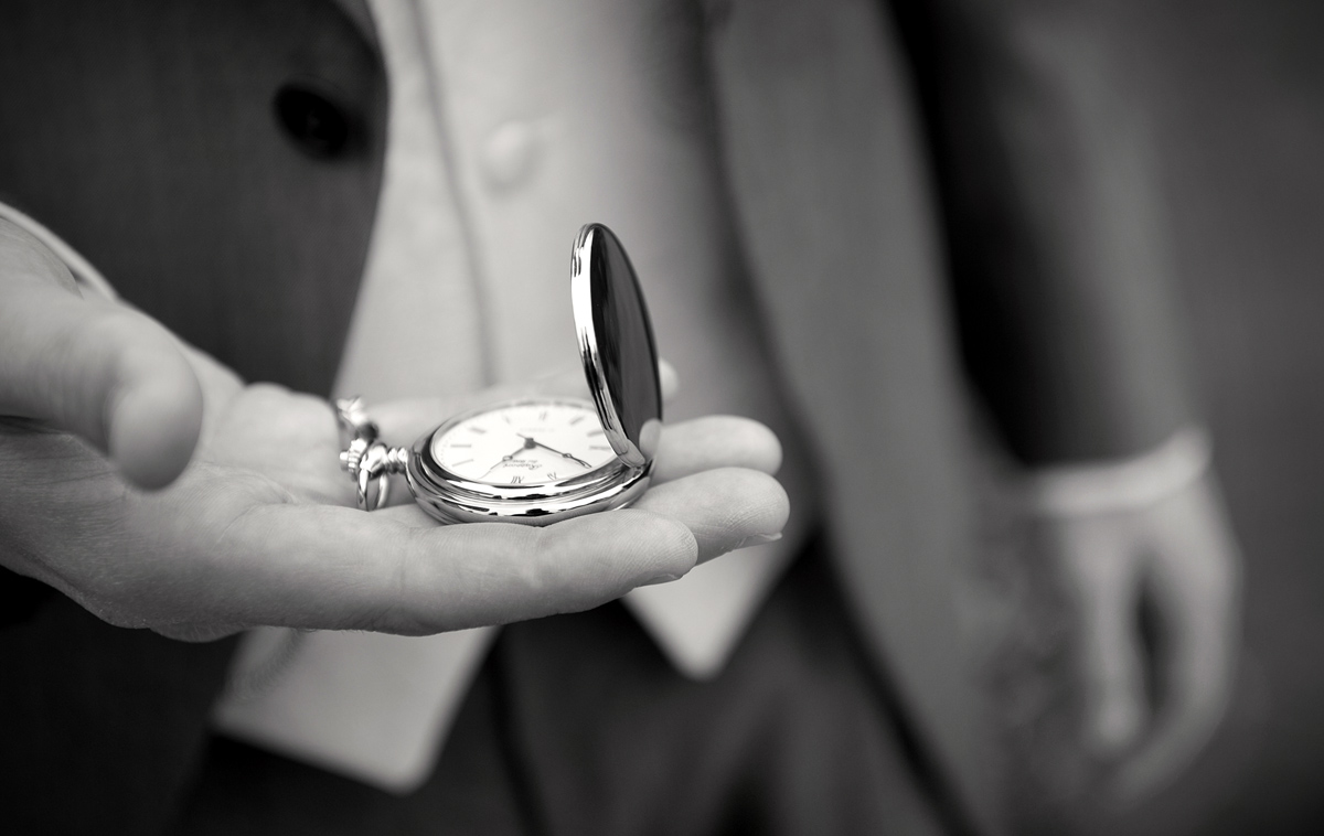 South-wales-wedding-photography-capturing-pre-wedding-details-Groom-old-pocketwatch-Guyers-House-wedding-photography