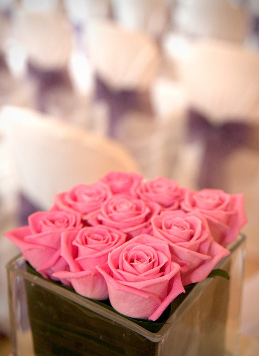 South-Wales-wedding-photograhers-beautiful-pink-rose-decoration-Glan-yr-Afon-Hotel-wedding-photographer